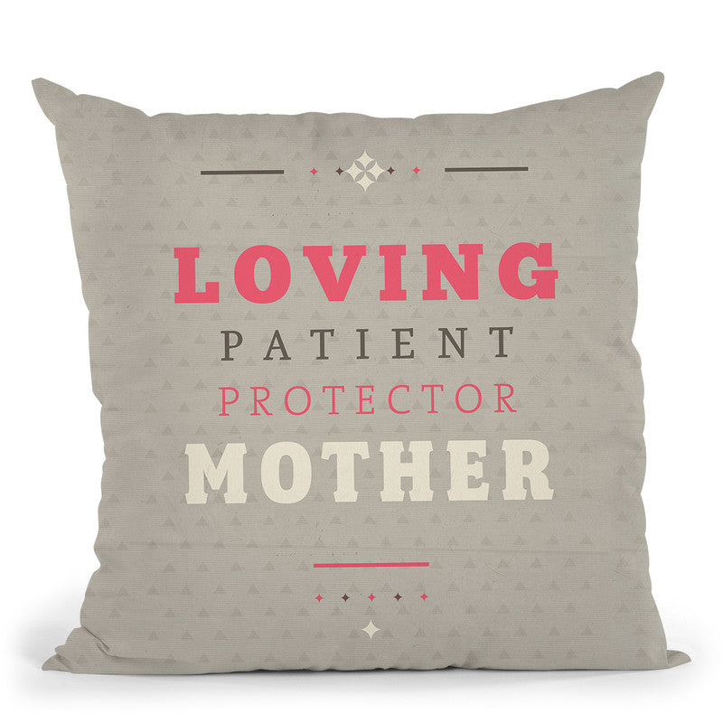 Loving Mother Throw Pillow By American Flat - All About Vibe