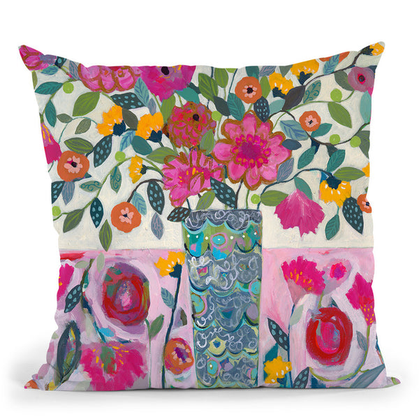 Amazing Vase Throw Pillow By Carrie Schmitt - All About Vibe