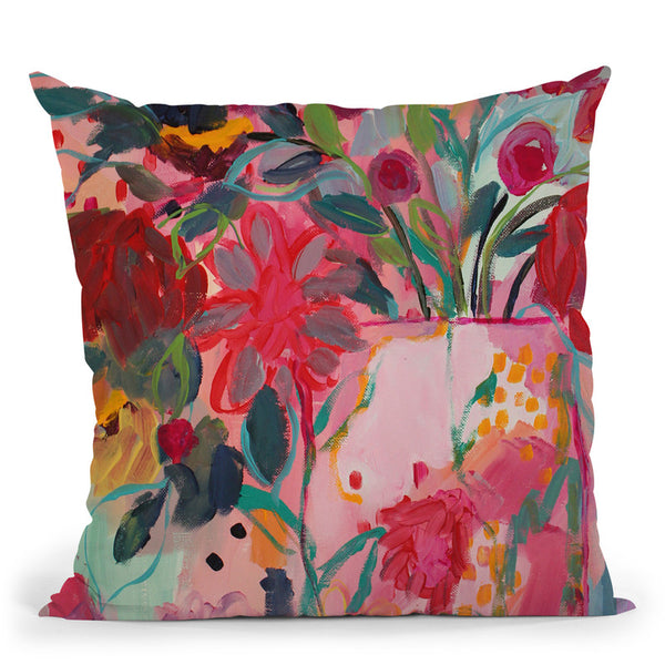 Floral & Botanical Vi Throw Pillow By Carrie Schmitt - All About Vibe