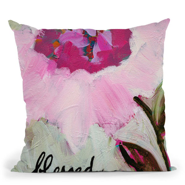 Blessed Throw Pillow By Carrie Schmitt - All About Vibe