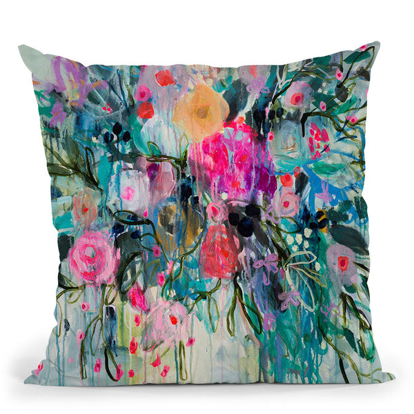 Born Botanical Throw Pillow By Carrie Schmitt - All About Vibe