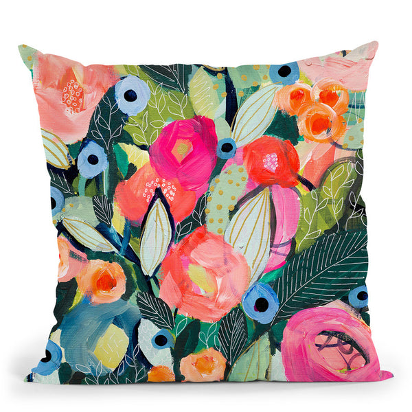 Doreens Optimism Throw Pillow By Carrie Schmitt - All About Vibe