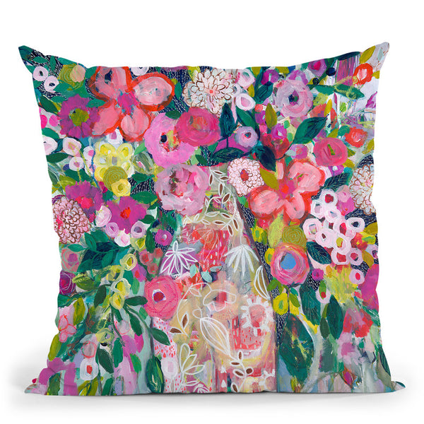 Pale Vase Throw Pillow By Carrie Schmitt - All About Vibe