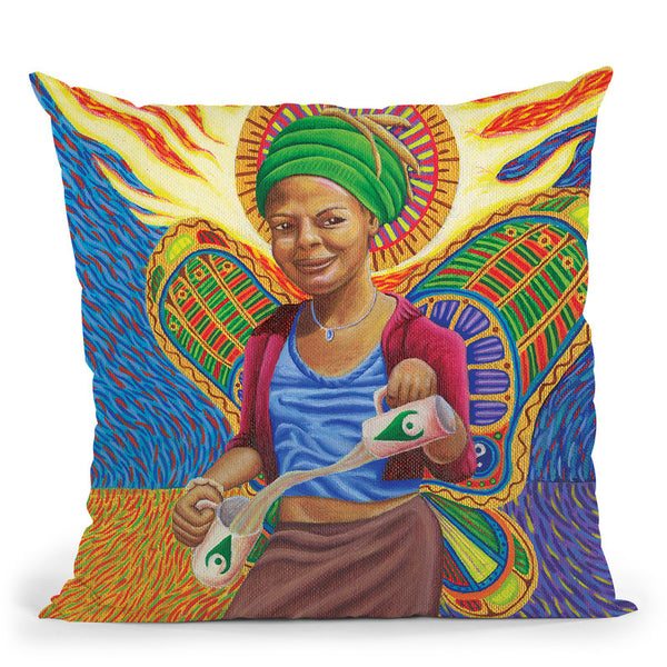 Astral Angel Throw Pillow By Chris Dyer - All About Vibe