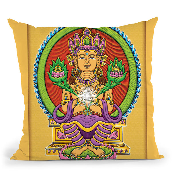 Bodhichitta Buddha Throw Pillow By Chris Dyer - All About Vibe