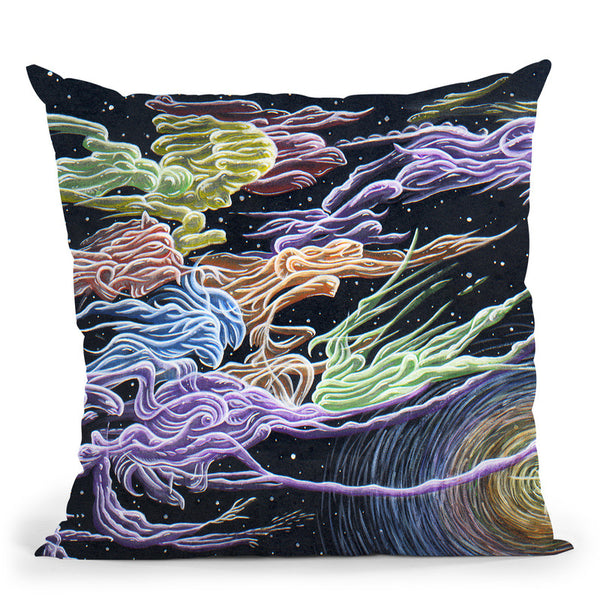 Celestial Dance Throw Pillow By Chris Dyer - All About Vibe