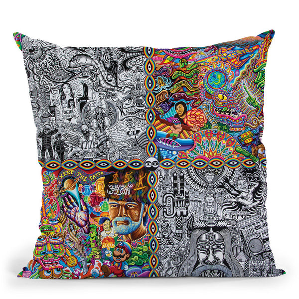 Chaos Culture Jam Throw Pillow By Chris Dyer - All About Vibe