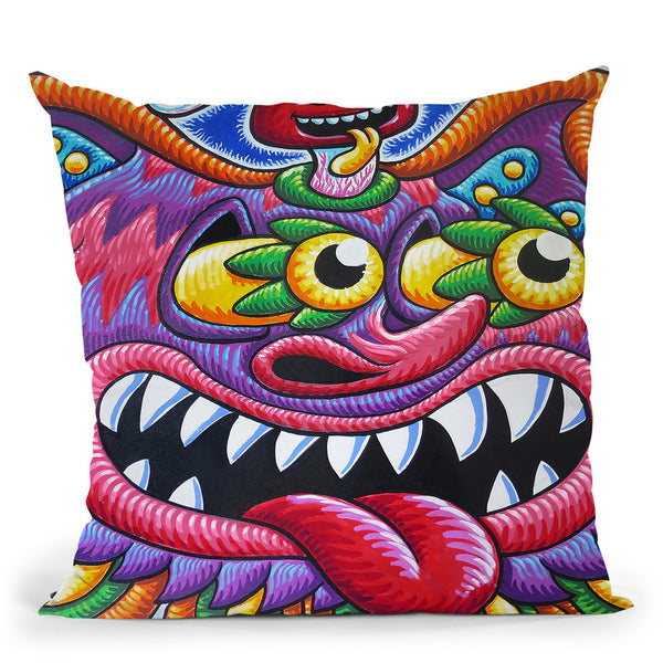 Cheshire Cat - Portland Throw Pillow By Chris Dyer - All About Vibe