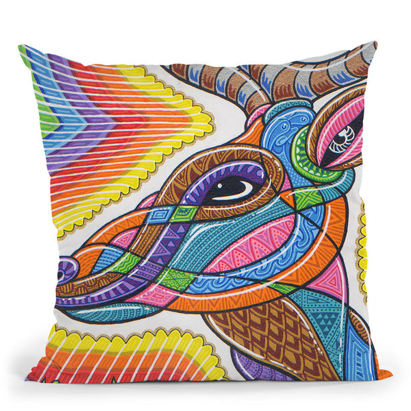 Clear Deer Throw Pillow By Chris Dyer - All About Vibe