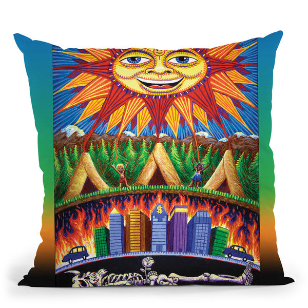 Death N Rebirth Throw Pillow By Chris Dyer - All About Vibe