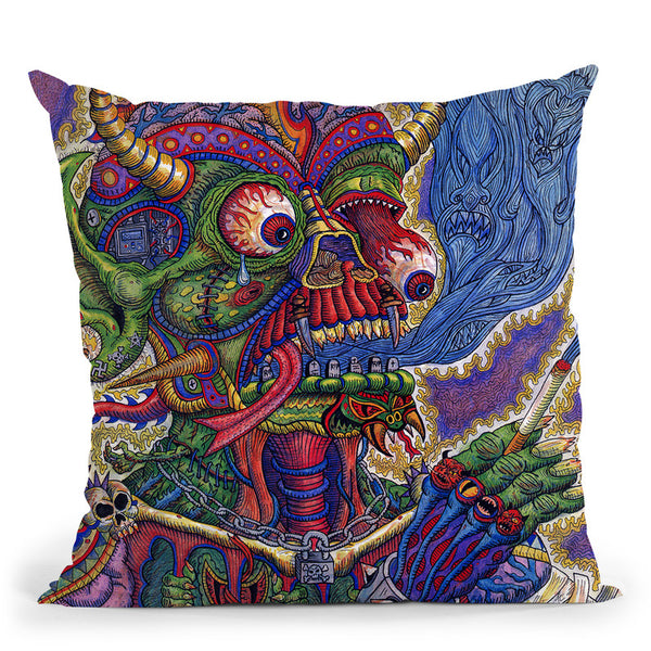 Death Throw Pillow By Chris Dyer - All About Vibe