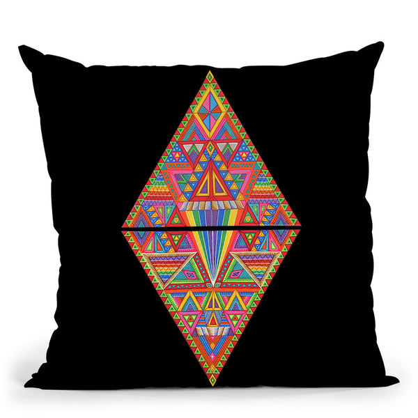 Dmt Diamond Throw Pillow By Chris Dyer - All About Vibe