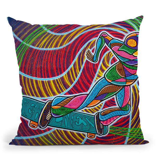 Feeble-Grinding The Vortex Of Assension Throw Pillow By Chris Dyer - All About Vibe