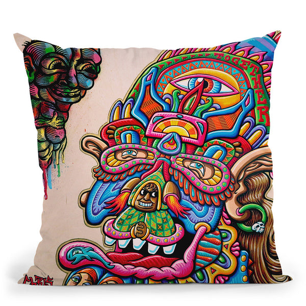 Feedback From Beyond Throw Pillow By Chris Dyer - All About Vibe