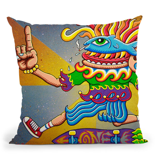Fish Eye Airwalk Throw Pillow By Chris Dyer - All About Vibe