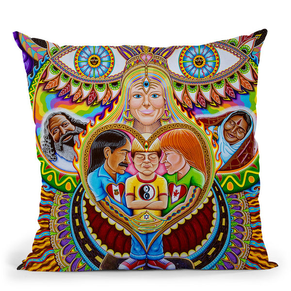 God Of Healing Throw Pillow By Chris Dyer - All About Vibe