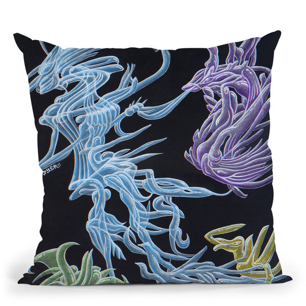 Harvester Of Wormholes Throw Pillow By Chris Dyer - All About Vibe