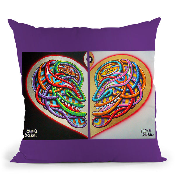Heart Intelligence Throw Pillow By Chris Dyer - All About Vibe