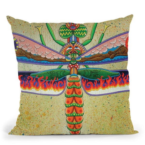 Heaven N Hell Dragonfly Throw Pillow By Chris Dyer - All About Vibe