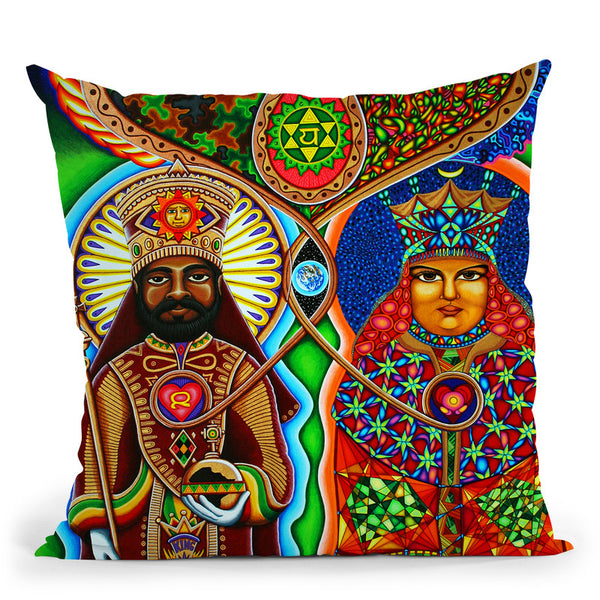 King N Queen Throw Pillow By Chris Dyer - All About Vibe