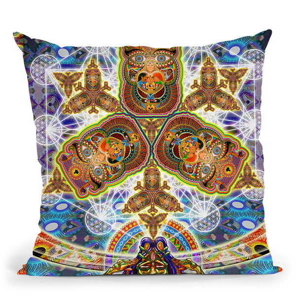 Messeges From A Healing Fractal Dimention Throw Pillow By Chris Dyer - All About Vibe