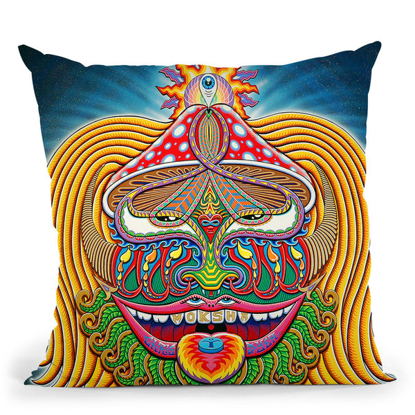 Moksha Master Throw Pillow By Chris Dyer - All About Vibe