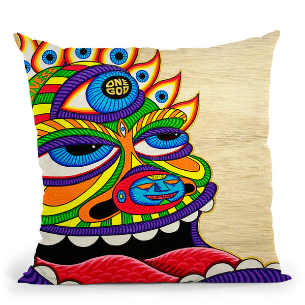 One God Throw Pillow By Chris Dyer - All About Vibe