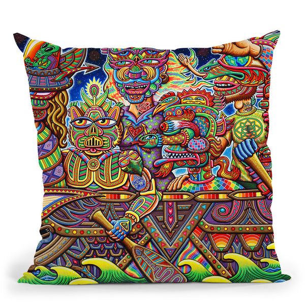 Optimystics Journey Web Throw Pillow By Chris Dyer - All About Vibe