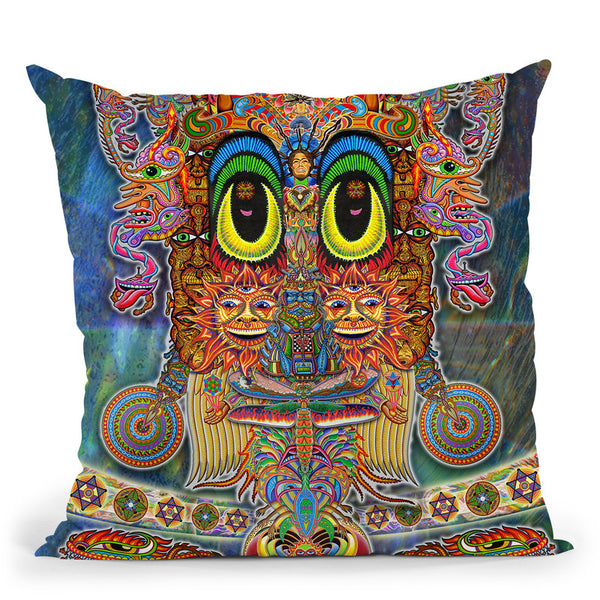 Saintart Throw Pillow By Chris Dyer - All About Vibe