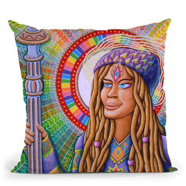 Shayana Theamaness Throw Pillow By Chris Dyer - All About Vibe