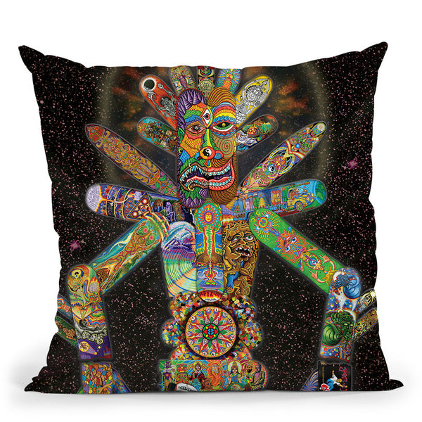 Skatebotron The Giant Robot Throw Pillow By Chris Dyer - All About Vibe