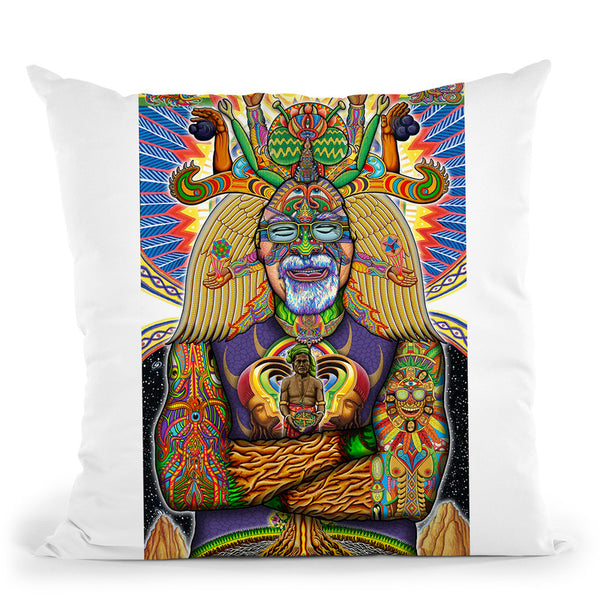Steven Beyer Digital Portrait Throw Pillow By Chris Dyer - All About Vibe