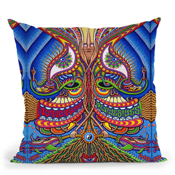 The Apotheosis Of Dualitree Throw Pillow By Chris Dyer - All About Vibe