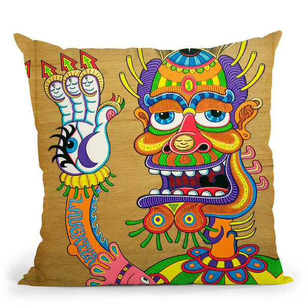 The Clown Is A Wiseman In Disguise Throw Pillow By Chris Dyer - All About Vibe