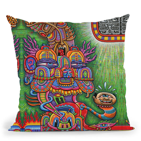 The Divine Comedian Web Throw Pillow By Chris Dyer - All About Vibe