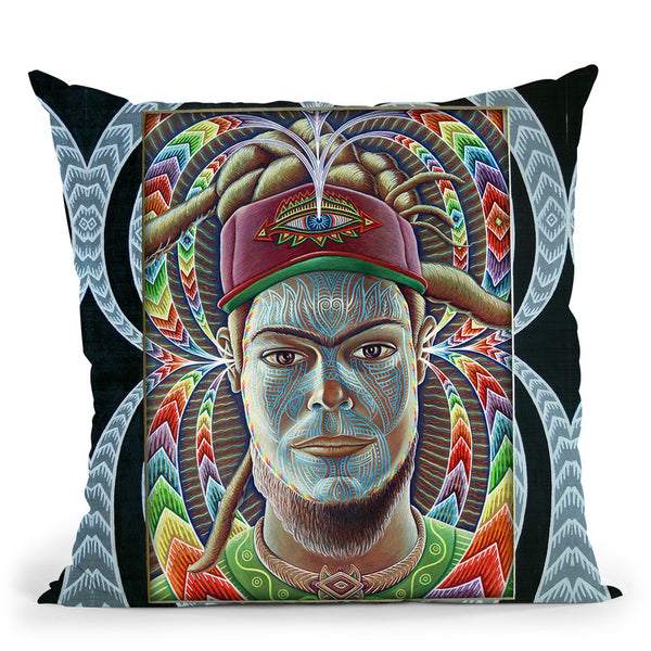 The Listener In Frame Throw Pillow By Chris Dyer - All About Vibe