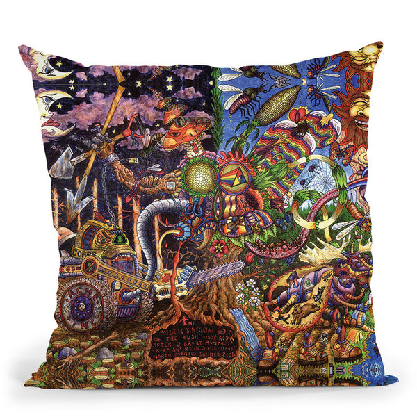 The Positive And Negative Sides Of The Bush Throw Pillow By Chris Dyer - All About Vibe