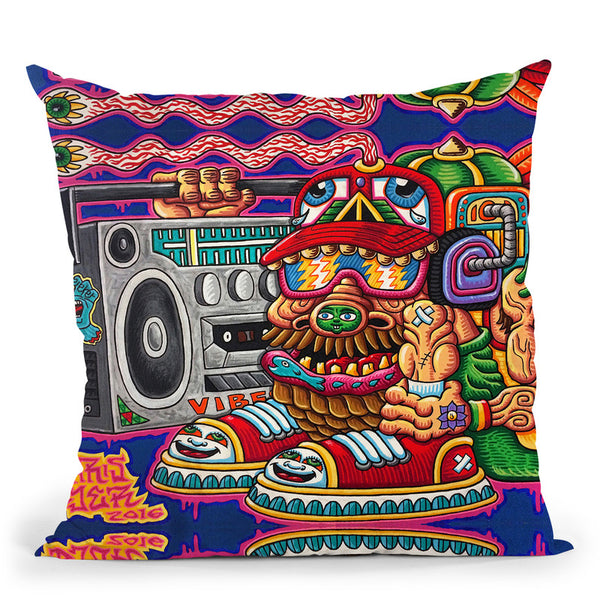 Ugly But Happy Throw Pillow By Chris Dyer - All About Vibe