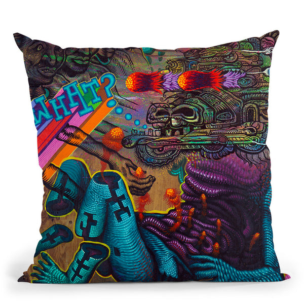 What-- Collabo With Jason Botkin Throw Pillow By Chris Dyer - All About Vibe