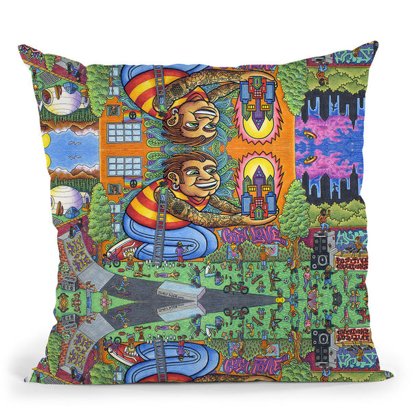 City Love Utopia Throw Pillow By Chris Dyer - All About Vibe