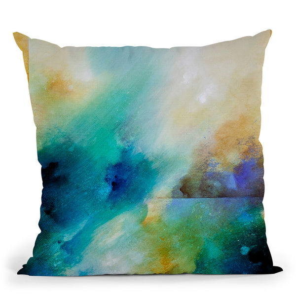 Aqua Breeze Throw Pillow By Ch Studios - All About Vibe