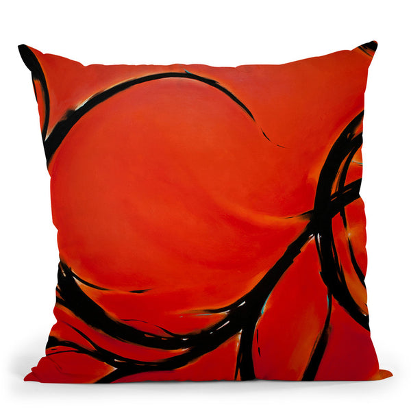 Red Dream Throw Pillow By Ch Studios - All About Vibe