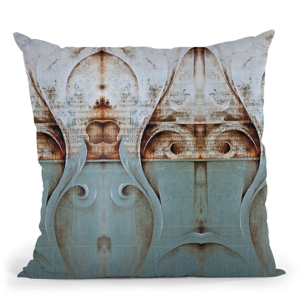 Mozart Sounds Throw Pillow By Ch Studios - All About Vibe