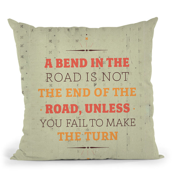 A Bend In The Road Throw Pillow By American Flat - All About Vibe