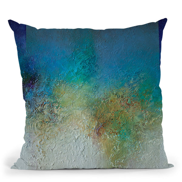Blue Sands Throw Pillow By Ch Studios - All About Vibe