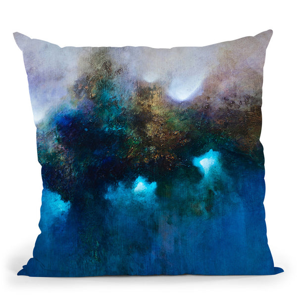 Blue Waters Throw Pillow By Ch Studios - All About Vibe