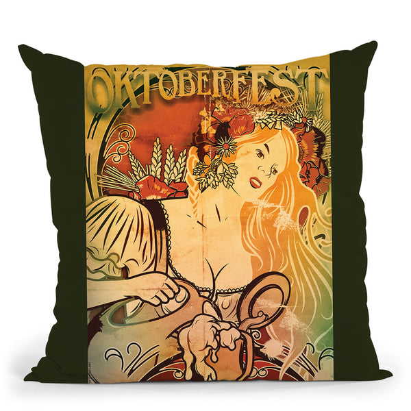 Oktoberfest Throw Pillow By American Flat - All About Vibe