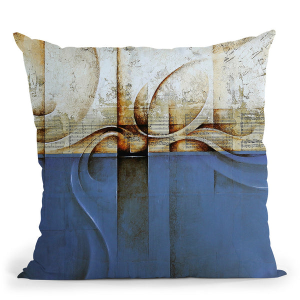 Mozart Blue Throw Pillow By Ch Studios - All About Vibe