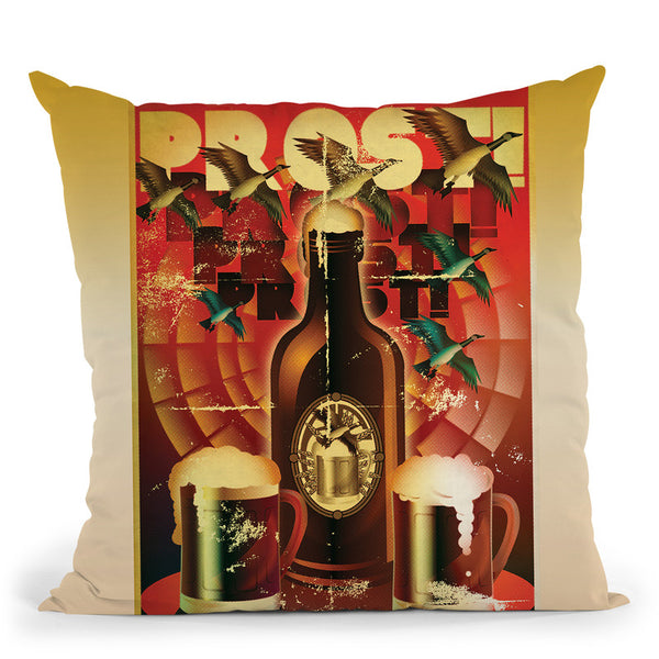Prost! Throw Pillow By American Flat - All About Vibe