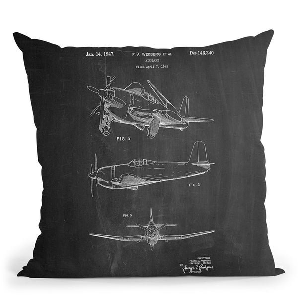 Airplane 1947 Throw Pillow By Cole Borders - All About Vibe